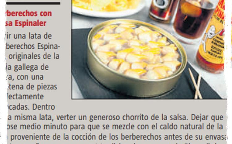 La salsa Espinaler – La Vanguardia (Gastromoda) (Julio 2104)