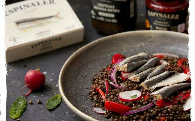 Ensalada de lentejas y sardina