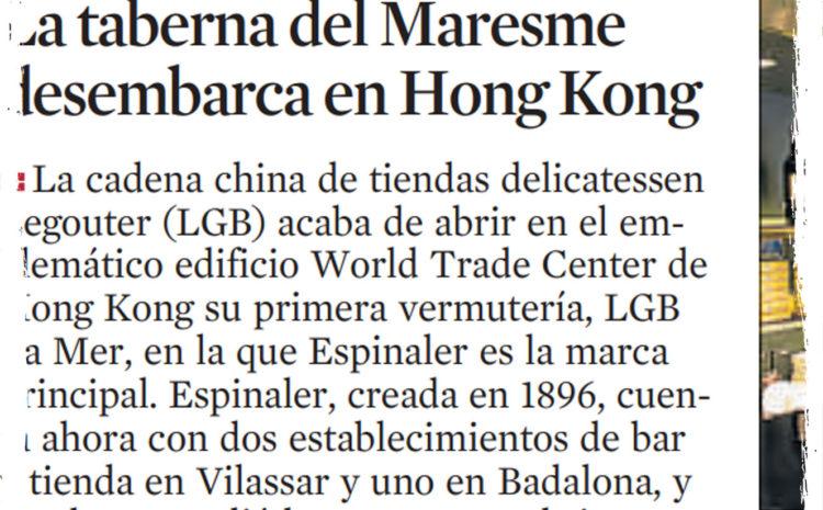 La taberna del Maresme desembarca en Hong Kong- La Vanguardia (Nov 2015)