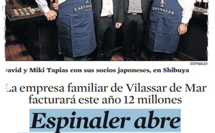 Espinaler abre en Tokio – La Vanguardia (Nov 2014)