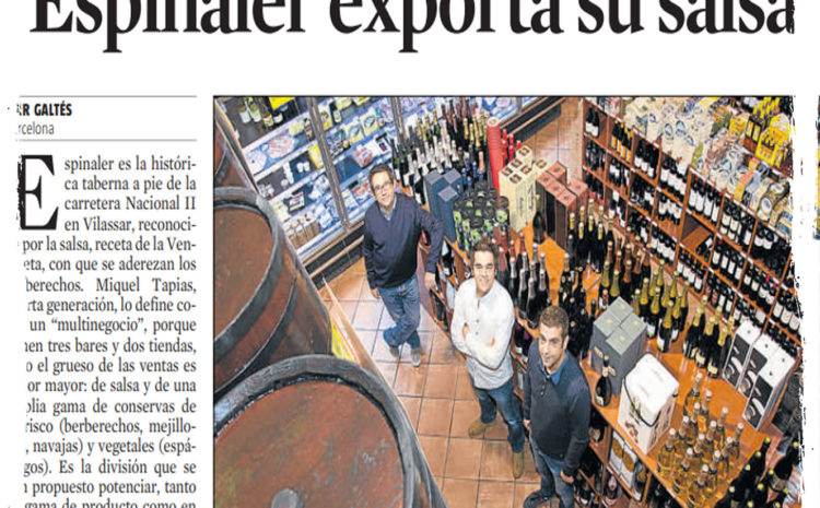 Espinaler exporta su salsa – La Vanguardia (Nov 2013)