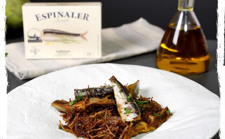 Rossejat de fideos con sardinas